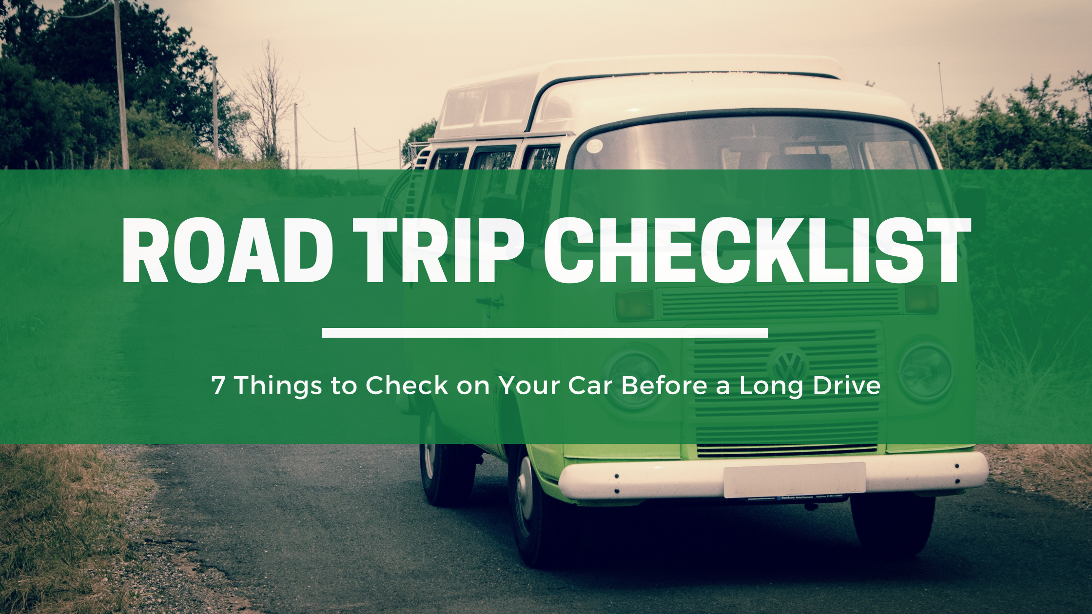 road trip checklist graphics